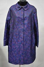ANNE KLEIN Size 14 Gauguin/Cordovan Combo Peterpan Collar Topper Coat