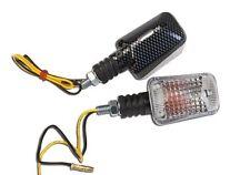060026 2 FRECCE CORTE CARBON LAMPADA OMOLOGATE per TUTTE le MOTO ROYAL ENFIELD