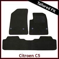 CITROEN C5 Mk2 2008-2017 Tailored Fitted Carpet Car Floor Mats BLACK