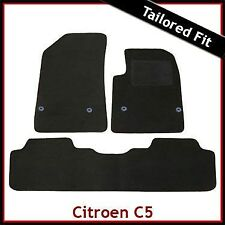 CITROEN C5 Mk2 2008-2017 Tailored Fitted Carpet Car Floor Mats BLACK