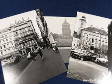 Lot of 3 European Vacation Photos Austria Insurance Esso Gas Great Buildings
