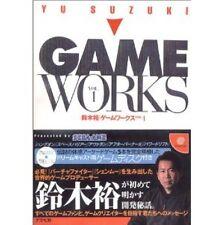 Yu Suzuki Game Works VOL..1 illustration art book / Virtua Fighter, Shenmue w/CD