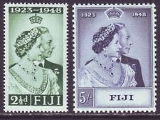 Fiji 1949 SC 139-140 MNH Set Silver Wedding