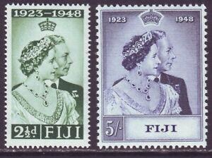 Fiji 1949 SC 139-140 MNH Set Silver Wedding