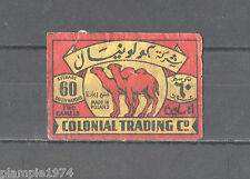 Colonial Trading Made in Poland/Matchbox Labels/Lucifer-Etiketten