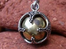 HARMONY/CHIME BALL/ANGEL CALLER HANDCRAFTED BALINESE 925 SILVER PENDANT BRASS