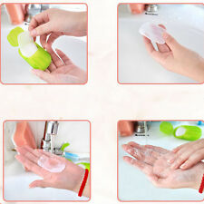 Hot Easy Washing Hand Bath Travel Scented Slice Sheets Foaming Box Paper Soap GM