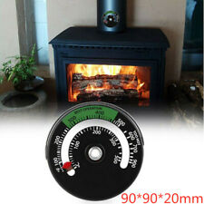 Magnetic Hanging Thermometer Gauge Wood Burner Stove Fireplace Fan Household Hx