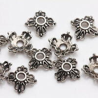 100Pcs Tibet Silver Butterfly Flower Spacer Bead Caps Jewelry Findings DIY 6x2mm