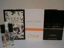 3 X CHLOE GUCCI D&G SET OF LADIES MINI SPRAY PERFUME SAMPLES VIALS TRAVEL SIZE