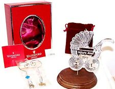 NEW 2013 WATERFORD Crystal BABY'S FIRST 1ST CHRISTMAS Ornament W/Enhancers MIB