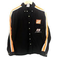 Tony Stewart Button Down Shirt, XL, Long Sleeve, Black, #20, Home Depot