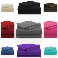 4 Piece Bed Sheet Set 1800 thread count 16''Deep Pocket For Oversized, King