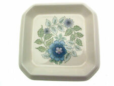 Wedgwood Clementine flower pot under plate small square dish blue flowers WWCL10