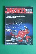 MOTO TECNICA 3/1993 BMW R 1100 APRILIA RS 125 HONDA 250 GP SUZUKI RF 600 R