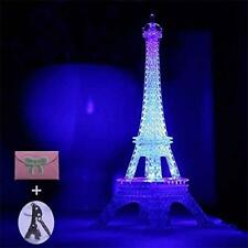 Night Light Eiffel Tower Paris Decor LED Lamp Colorful Bedroom Bathroom Gift NEW