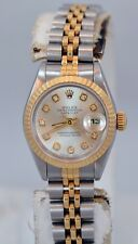 Rolex Datejust Diamond Dial 18k Yellow Gold and Stainless Steel ladies watch.