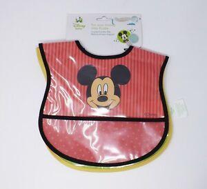 Disney Baby Set of 2 Mickey Mouse Water Resistant Crumb Catcher Bibs