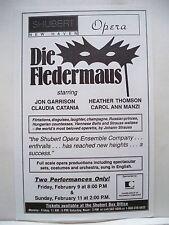 DIE FLEDERMAUS Herald JON GARRISON / HEATHER THOMSON / CLAUDIA CATANIA 1990