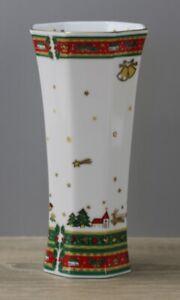 Maebata Japan Merry Christmas Weihnachtsgeschirr Blumenvase Vase Höhe ca. 18 cm