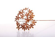 Edelrost Blume 3D Garten Deko Metall