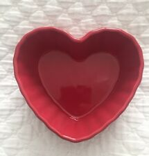 Chantal Fluted Red Heart Baking/candy Dish - 1 Cup - Rare