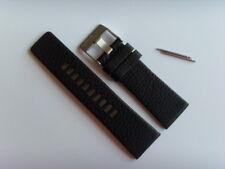 DIESEL Original Ersatzband Lederarmband DZ4182 Uhrband schwarz 27 mm strap black