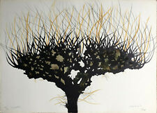 Carlo MATTIOLI 1976 litografia originale acquarellata a mano firmata