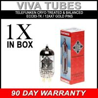 Telefunken Black Diamond Reissue 12AX7 ECC83-TK Vacuum Tube BALANCED & CRYO