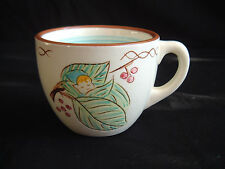 RARE STANGL POTTERY KIDDIEWARE BLUE ELF CHILDS CUP ~ 1960'S