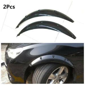 Black 2x Car Wheel Eyebrow Arch Trim Lips Fender Flares Scratch proof Protector