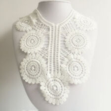 New Lace Embroidered Floral Neckline Neck Collar Trim Clothes Sewing Applique 07