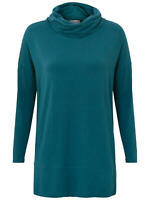 East Slouchy Cowl Neck Jersey Top, Teal - Various Sizes  - RRP £45 -  BNIP