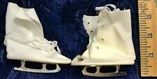 """VinTaGe 1940 1950 Ice Skates NEW for Baby Fashion Doll with 3"""" foot Cloth Metal"""