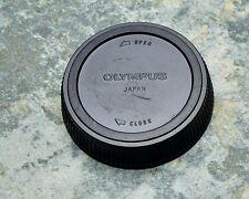 Genuine Olympus OM Black Rear Lens Cap Japan ZUIKO 50 1.8 1.4 OM-1 OM-10 (#1407)