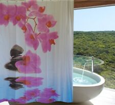 Pink orchid fabric shower curtain 2m drop new free shipping