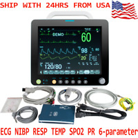 LCD Portable 12INCH Medical ICU CCU Patient Monitor SpO2/PR/NIBP/ECG/RESP/TEMP