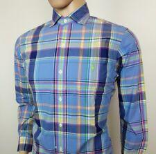 Ralph Lauren Mens Shirt Blue Plaid Check Multicolour Size S Chest 40 New RRP£105