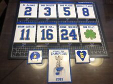 St. Louis Blues Stanley Cup & Retired #'s Vinyl Decal Replica Arena Banners NHL