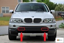 BMW NEW GENUINE E53 X5 99-03 FRONT BUMPER LEFT + RIGHT TOW EYE COVERS SET PAIR
