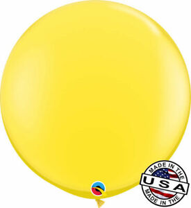 "3 ft HUGE 36"" Yellow QUALATEX Latex Balloon Party Decoration Birthday Wedding"
