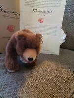Steiff Club 2001 / 2002 Edition Growling Bear 1934 Dark Brown Teddy Bear 17 CM
