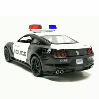 1:32 Ford Mustang Shelby GT350 Police Car Model Diecast Toy Sound Light Black