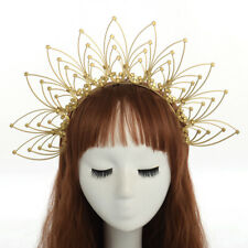 Gothic Women Halo Crown Gold Halo Headband Party Wedding Punk Halo Headdress