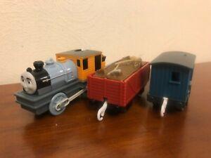 Thomas & Friends Trackmaster Bash the Logging Loco Blue Brakevan Supplies Truck