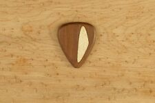 Wamara wood Wooden Guitar Pick Handmade with an Inlay and grip engraving