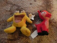 2004 McDonald's Neopets Plush Toys, Red Ixi & Yellow Quiggle