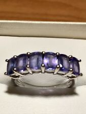 Beautiful Genuine 3.02ct Tanzanite 6 Stone ring Set In White Gold Size S (9.25)