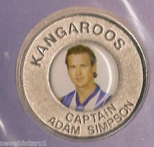 NORTH MELBOURNE KANGAROOS 2004  AFL CAPTAINS MEDALLION - ADAM SIMPSON
