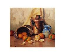 "ROBERT CHAILLOUX ""STILL LIFE WITH ORANGES AND APPLES"" 